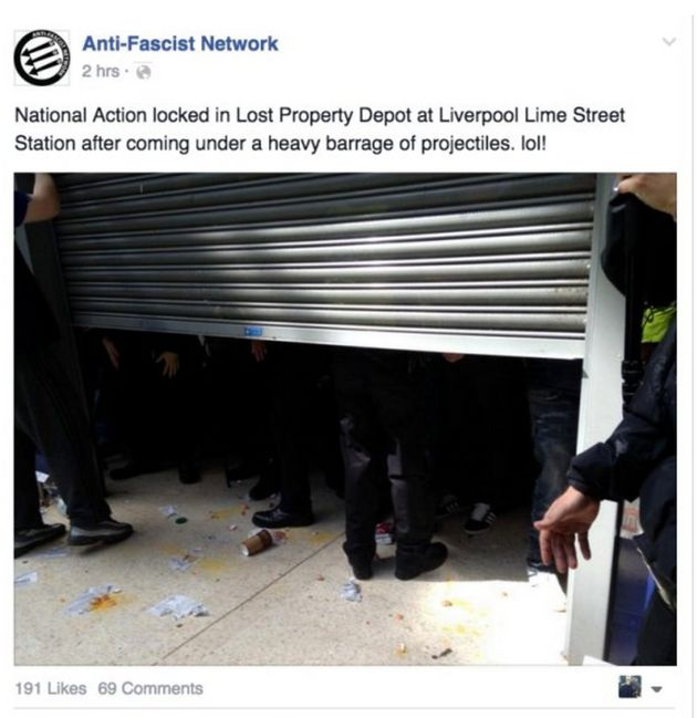 The moment National Action was locked in the lost property depot at Liverpool Lime Street Station after...