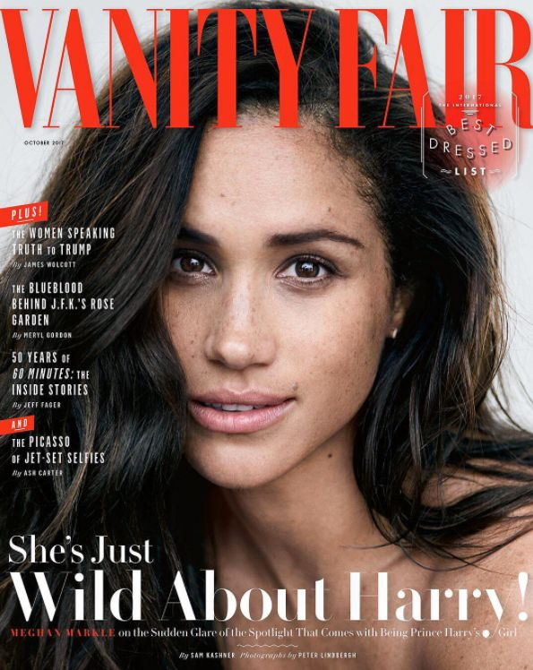 Meghan Markle Takes A Stand Against Airbrushing Out Freckles With Her Vanity Fair Cover