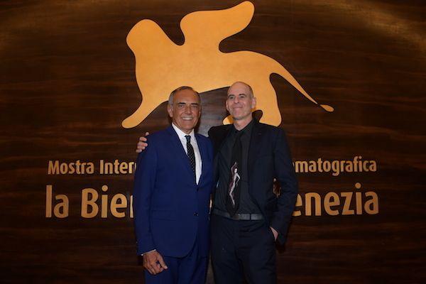 Alberto Barbera with filmmaker Samuel Maoz