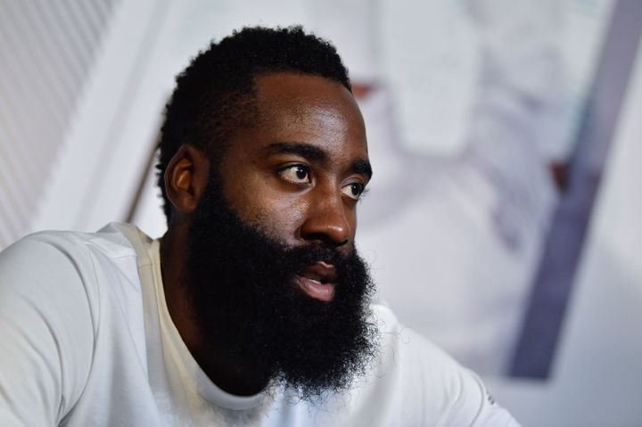 James Harden, guard for the Houston Rockets.