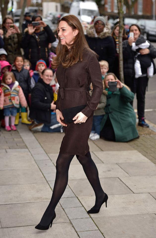 The Duchess of Cambridge attends an event hosted by The Fostering Network while pregnant with Princess...