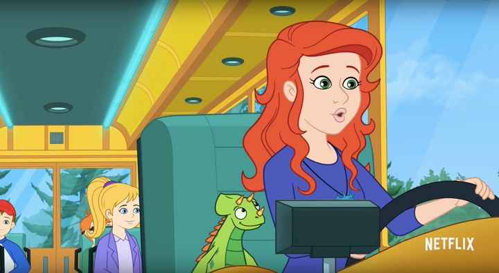 Kate McKinnon voices the new Ms. Frizzle.