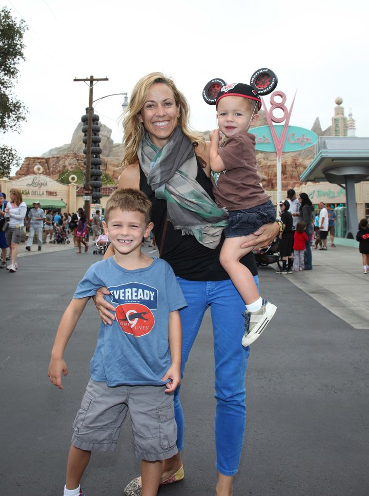 "In 2012, Crow took her sons to Disney California Adventure. In April, she said adopting them was ""the biggest everlasting event that has informed everything."""