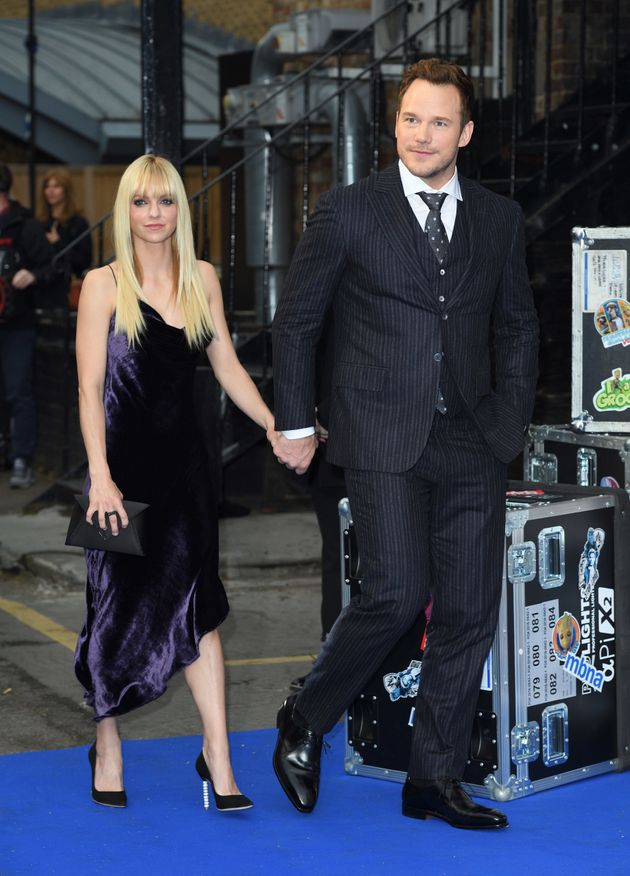 Anna Faris and Chris Pratt a screening of