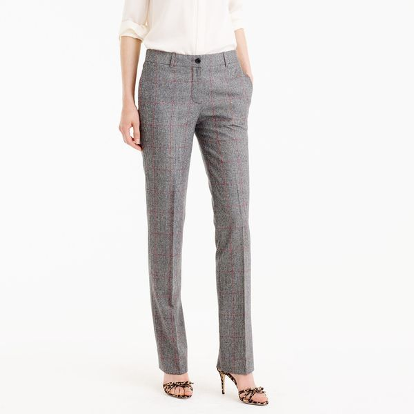 "Get the <a href=""https://www.jcrew.com/p/womens_special_shops/weartoworkshop/pants/collection-regent-pant-in-english-glen-pla"