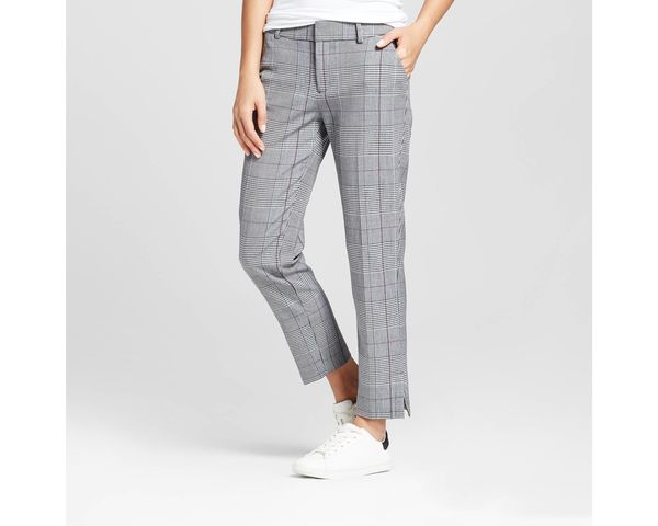 "Get the <a href=""https://www.target.com/p/women-s-straight-leg-plaid-slim-fit-pants-a-new-day-153-gray-14/-/A-52438258?ref=tg"