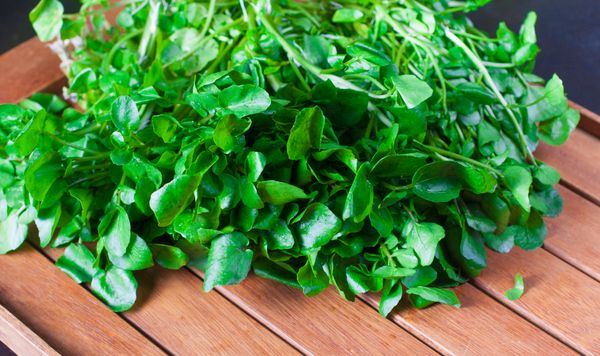 """<strong>Nutrient Density Score: 100</strong><br><br>Watercress contains106 percent of your <a href=""""http://healthyeatin"""
