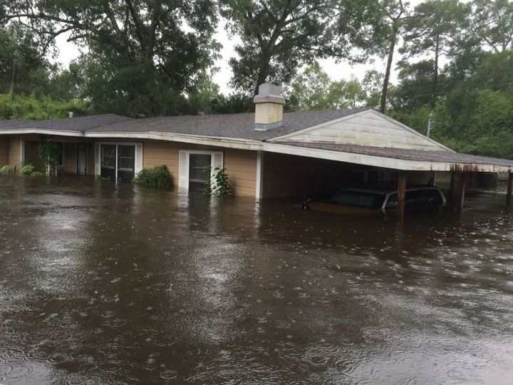 Parry's house in Lumberton, Texas was completely destroyed by the Harvey flooding.