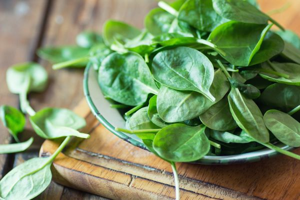 """<strong>Nutrient Density Score: 86.43</strong><br><br>Spinach is a nutritional powerhouse. It's <a href=""""http://www.whfoods.c"""