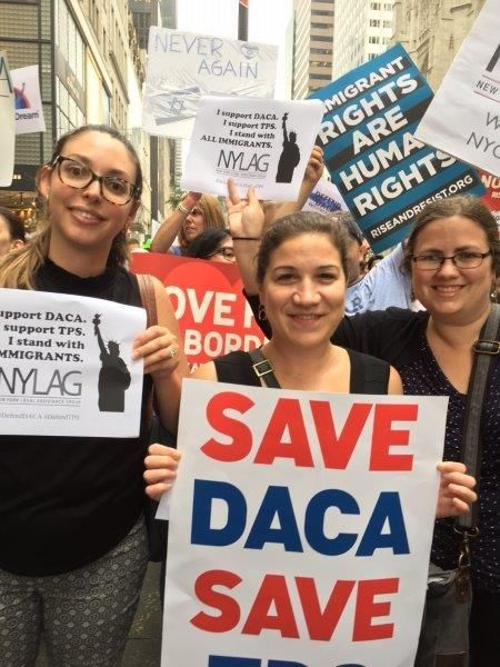 NYLAG staff rally to defend DACA