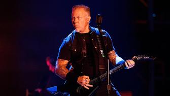 VANCOUVER, BC - AUGUST 14:  Musician James Hetfield of Metallica performs on stage at BC Place on August 14, 2017 in Vancouver, Canada.  (Photo by Andrew Chin/Getty Images)