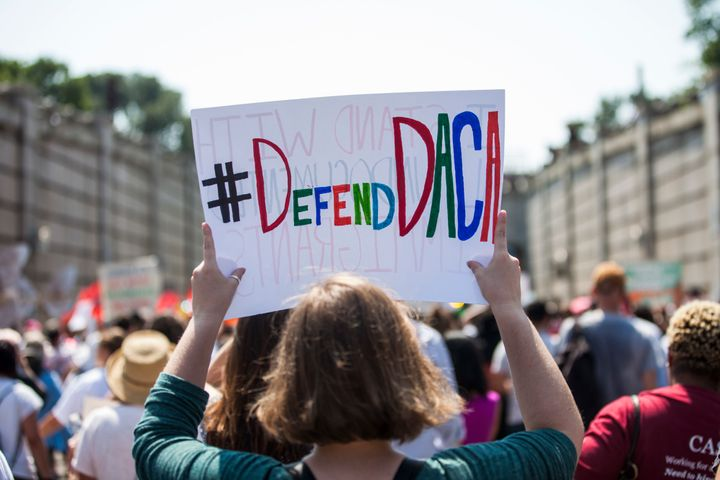 Peoplemarch against the Trump administration's decision to end DACA on Sept. 5 in Washington, D.C.