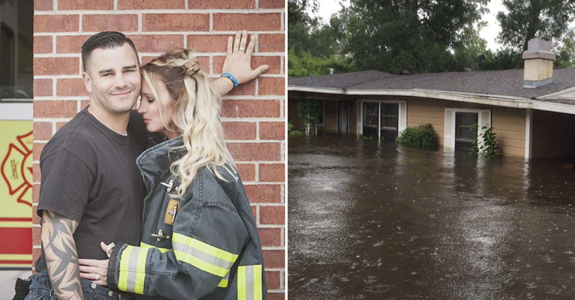 Firefighter Finds Fianc 233 E S Wedding Gown Safe And Dry In