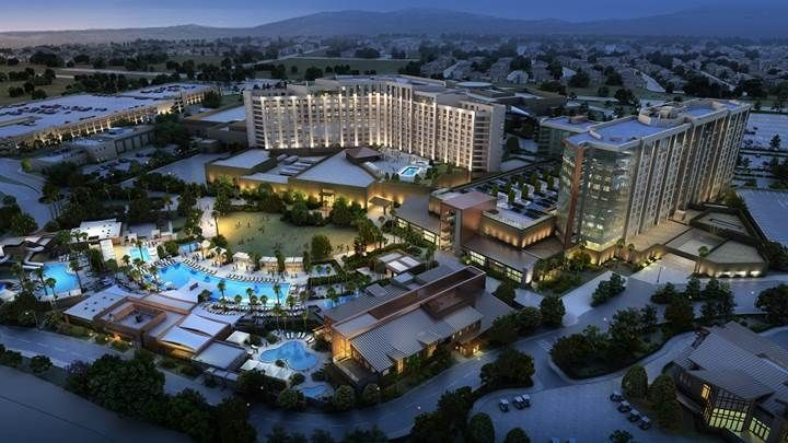 An exterior rendering of the completed $285 million expansion at Pechanga Resort & Casino in Temecula, Calif.