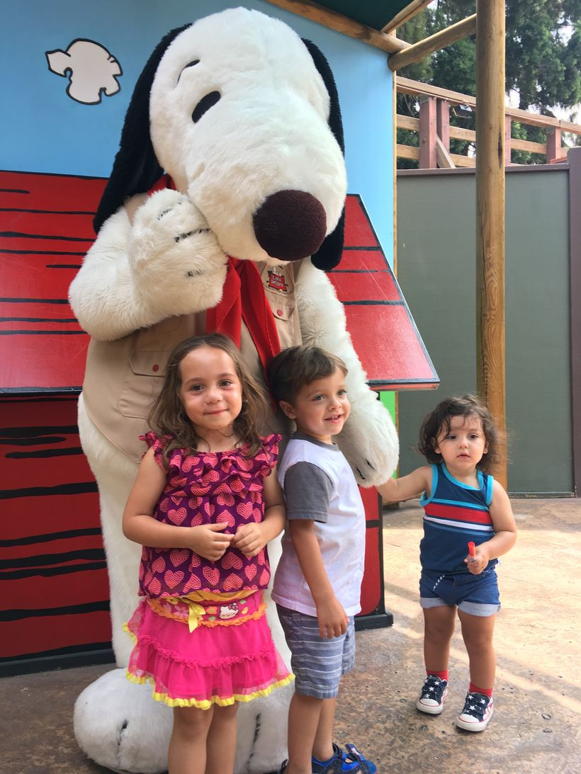 Making memories with Snoopy at Knott's Berry Farm in Buena Park, Calif.