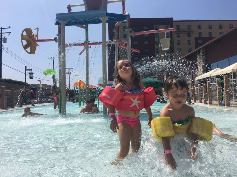 Unforgettable summer fun in one of the activity pools at Great Wolf Lodge in Anaheim, Calif.