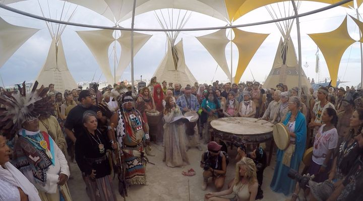 Photo from Global Drum Prayer at Burning Man