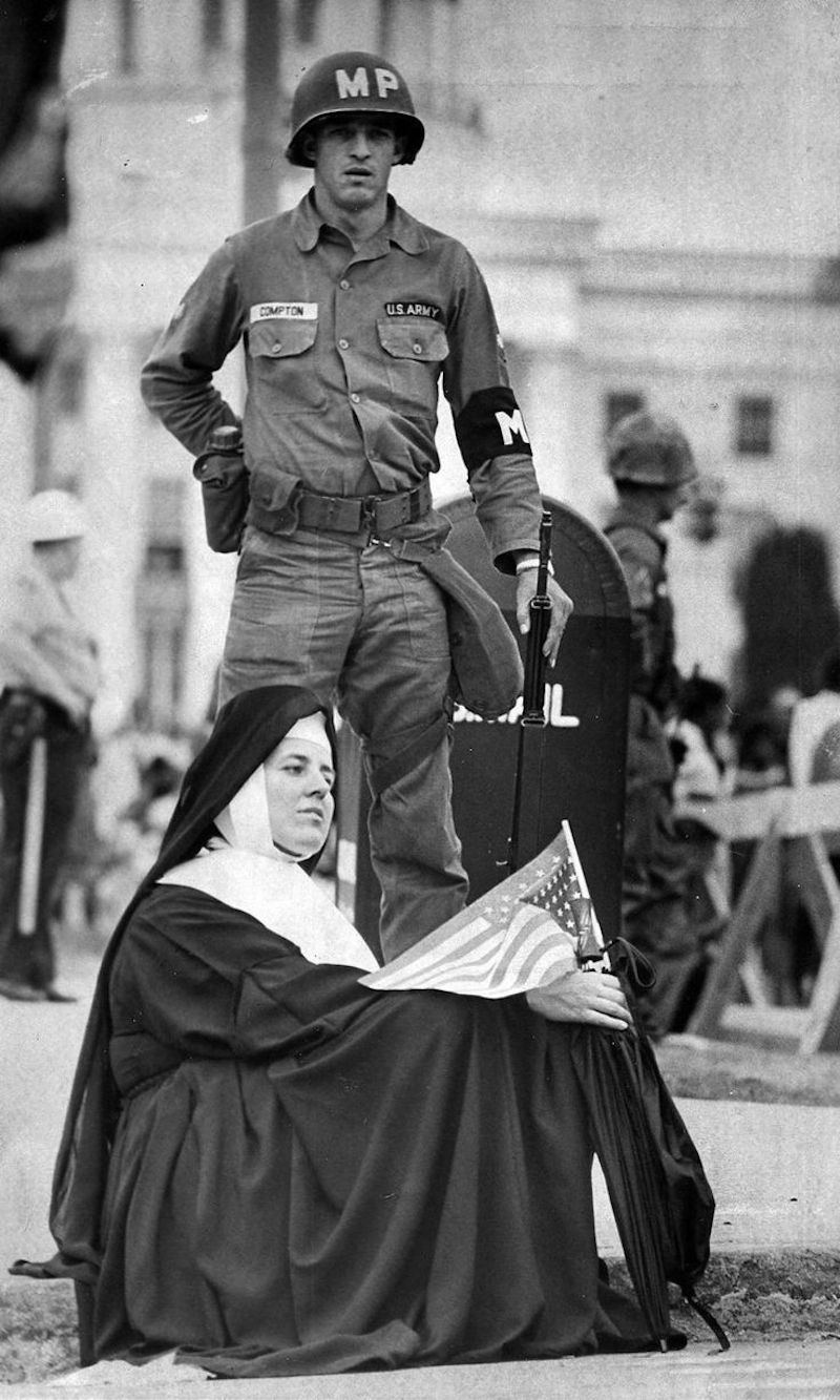Sr. Robert Joseph (Margaret Lalor) on the March from Selma to Montgomery, 1965