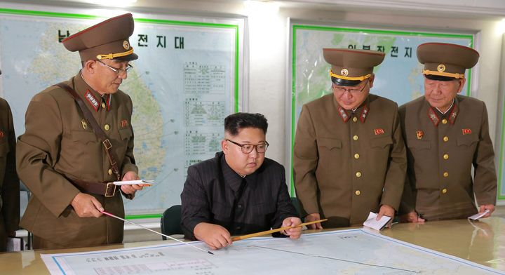 Kim Jong Un visits the Command of the Strategic Force of the Korean People's Army.