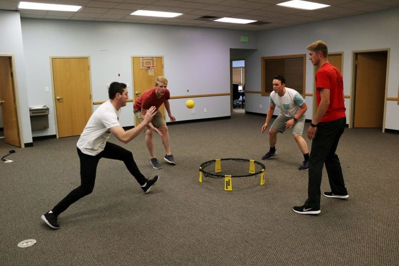 Fundwise capital uses a trendy outdoor game to help establish a blooming company culture