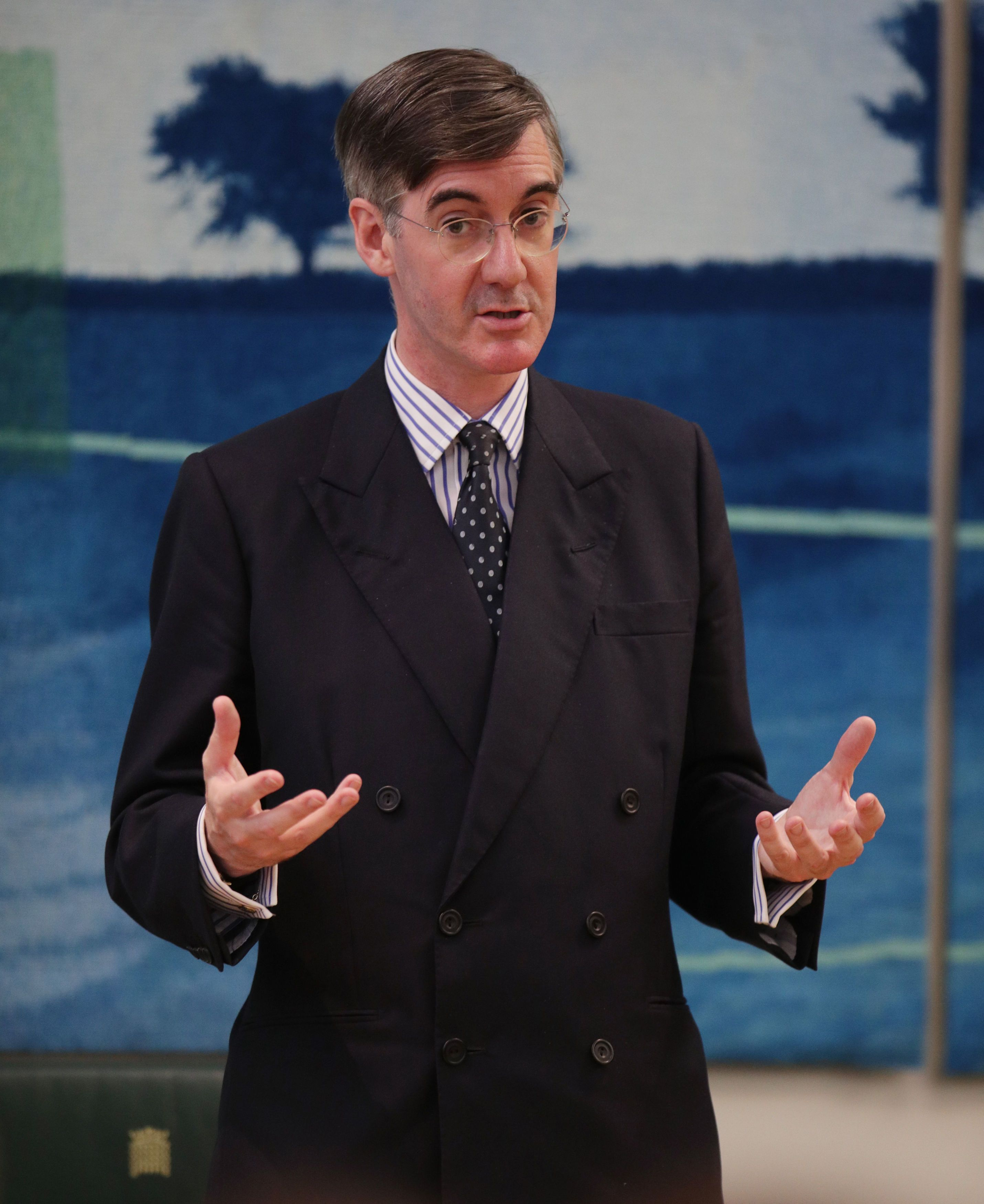 Jacob Rees-Mogg was challenged over his staunch Catholic