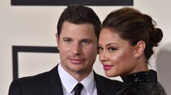 LOS ANGELES, CA - FEBRUARY 15:  TV personalities Nick Lachey and Vanessa Lachey arrive at The 58th GRAMMY Awards at Staples Center on February 15, 2016 in Los Angeles, California.  (Photo by Axelle/Bauer-Griffin/FilmMagic)