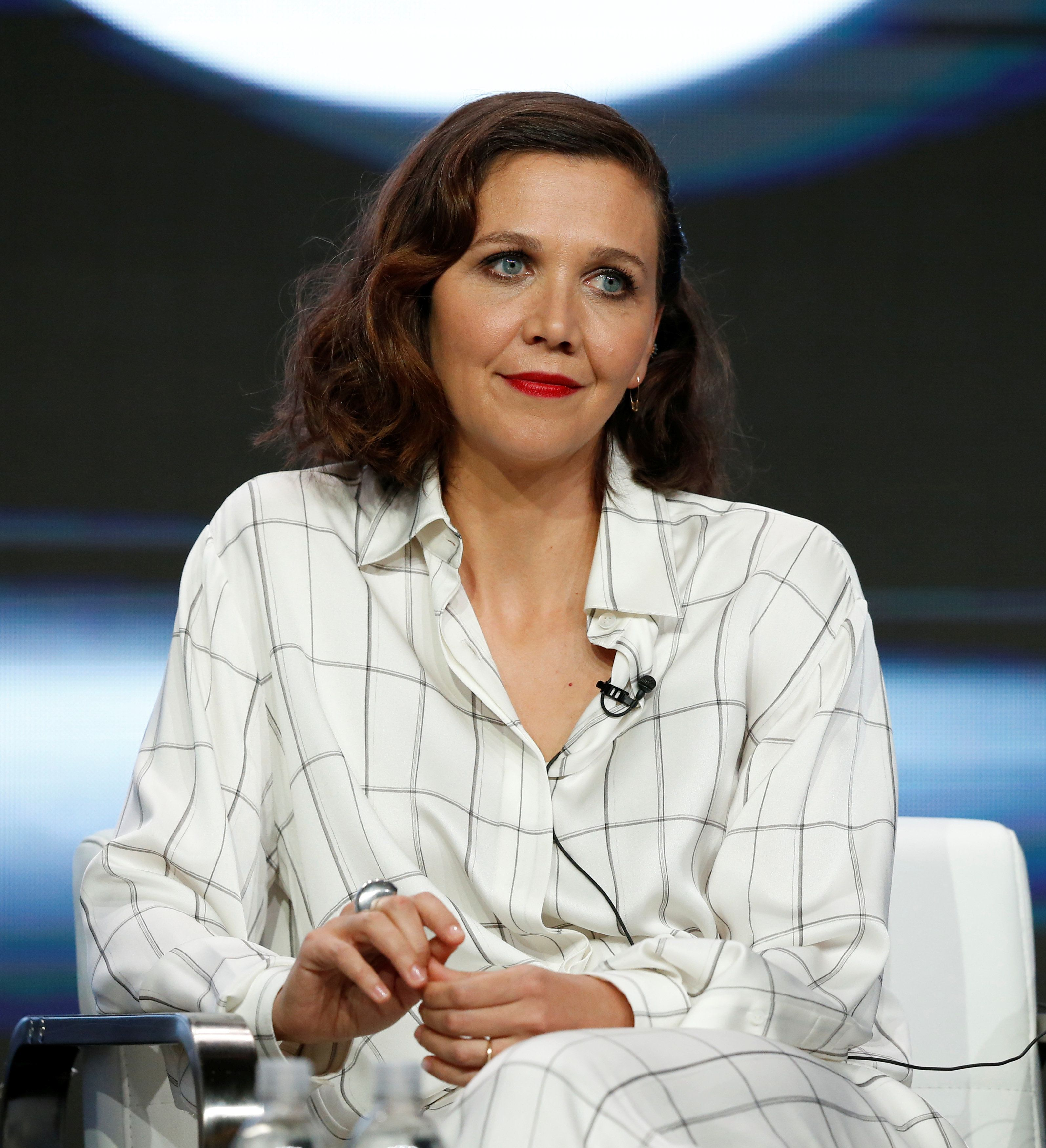 """Producer and cast member Maggie Gyllenhaal attends a panel for the television series """"The Deuce"""" during the TCA HBO Summer Press Tour in Beverly Hills, California, U.S., July 26, 2017. REUTERS/Mario Anzuoni"""