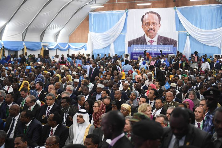 Guests wait at the inauguration ceremony of Somalia's President Farmaajo. It is not taken long for his administration to expe