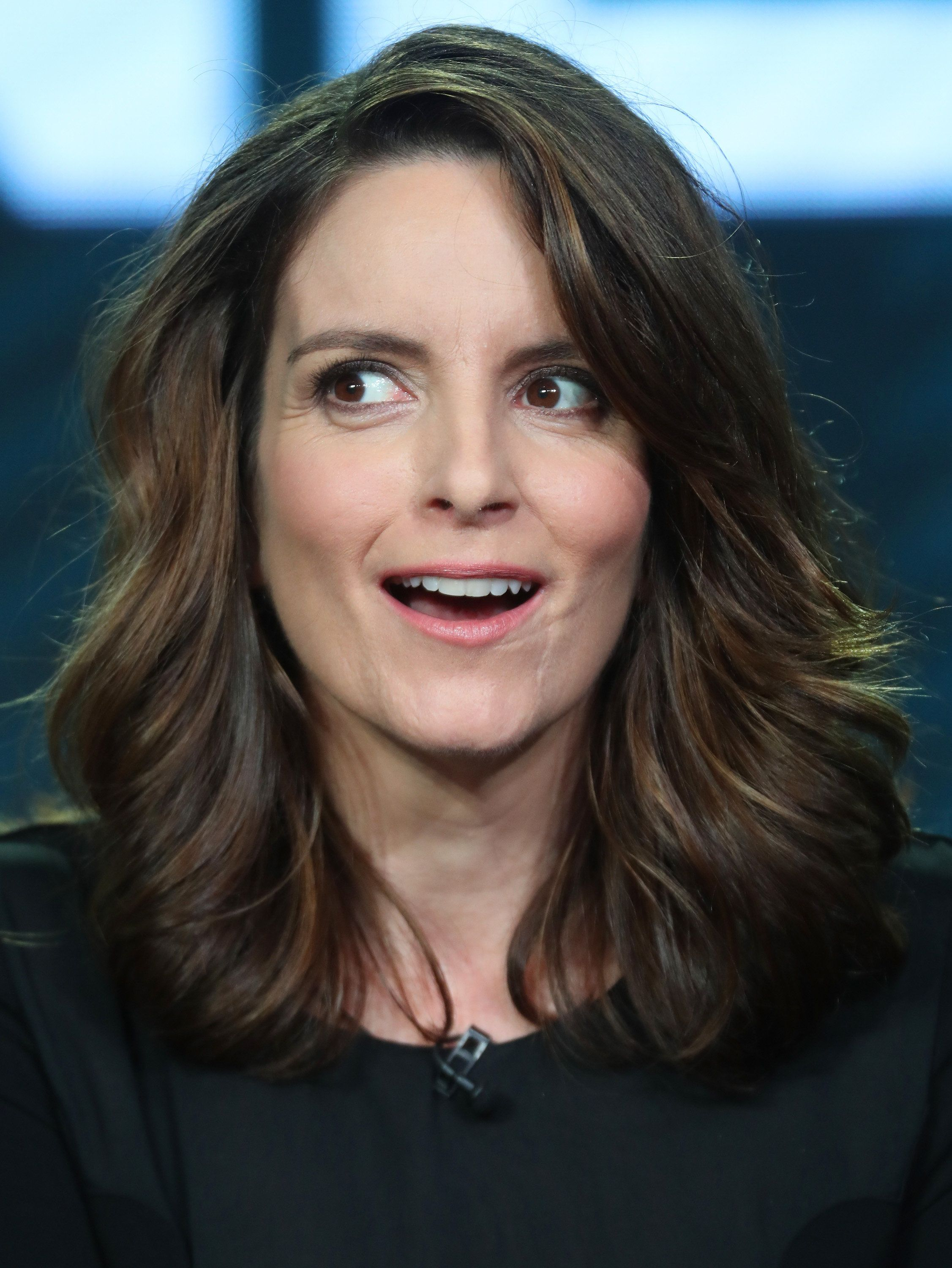 PASADENA, CA - JANUARY 18:  Executive producer Tina Fey of the television show 'Great News' speaks onstage during the NBCUniversal portion of the 2017 Winter Television Critics Association Press Tour at the Langham Hotel on January 18, 2017 in Pasadena, California.  (Photo by Frederick M. Brown/Getty Images)