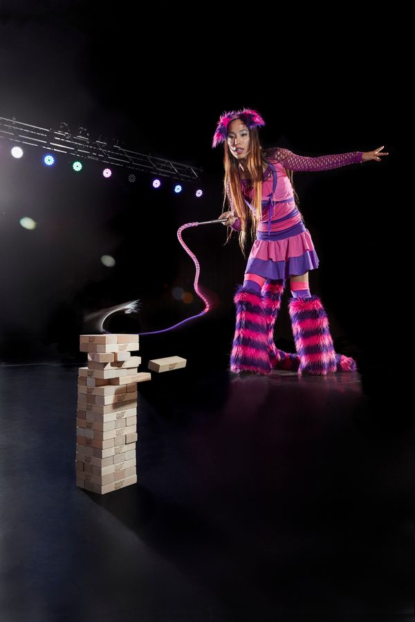 April Choi holds the record for most Jenga blocks removed by whip in one minute: 4. She achieved the record in Peoria, Illino