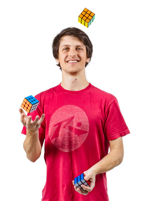 Feliks Zemdegs holds numerous world records involving the Rubik's Cube. The student from Melbourne, Australia, can