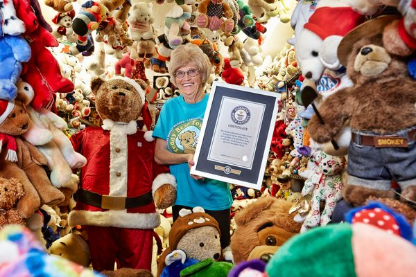 Jackie Miley of Hill City, South Dakota, has more than 8,026 teddy bears.