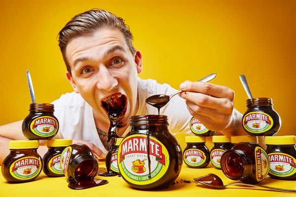 Andre Ortolf owns a wide variety of world records in the 2018 edition of Guinness World Records, including most Marmite