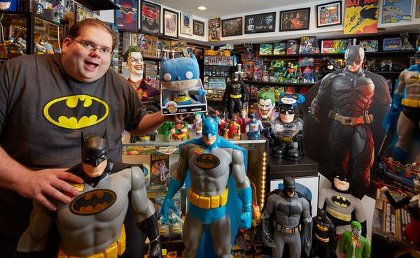 Brad Ladner of Roswell, Georgia, has the world's largest collection of Batman memorabilia: 8,226 different items as of April