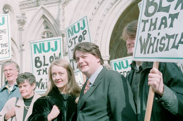 An NUJ protest against the Secrets