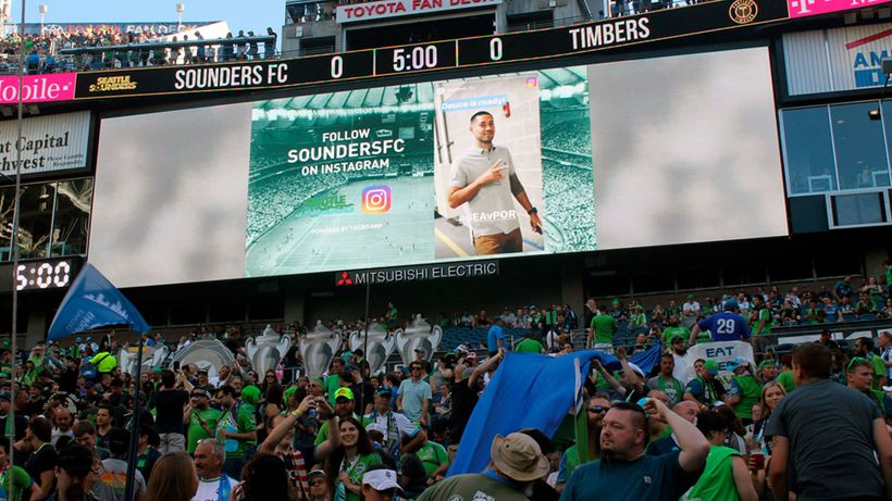The Seattle Sounders FC become the first MLS team to run Instagram Stories content, powered by Tagboard, on August 20 at Cent