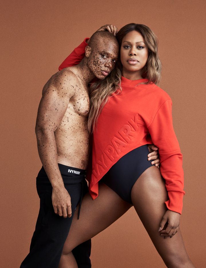 Model Ralph Souffrant and actress Laverne Cox.
