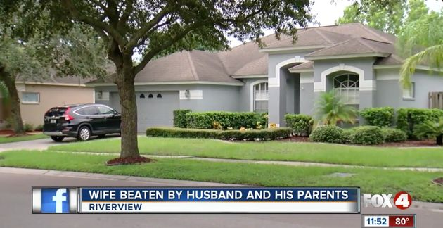 A 33-year-old woman was found badly beaten inside this Florida