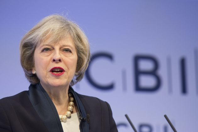 Theresa May, U.K. prime minister, speaks at the Confederation of British Industry (CBI) annual conference...