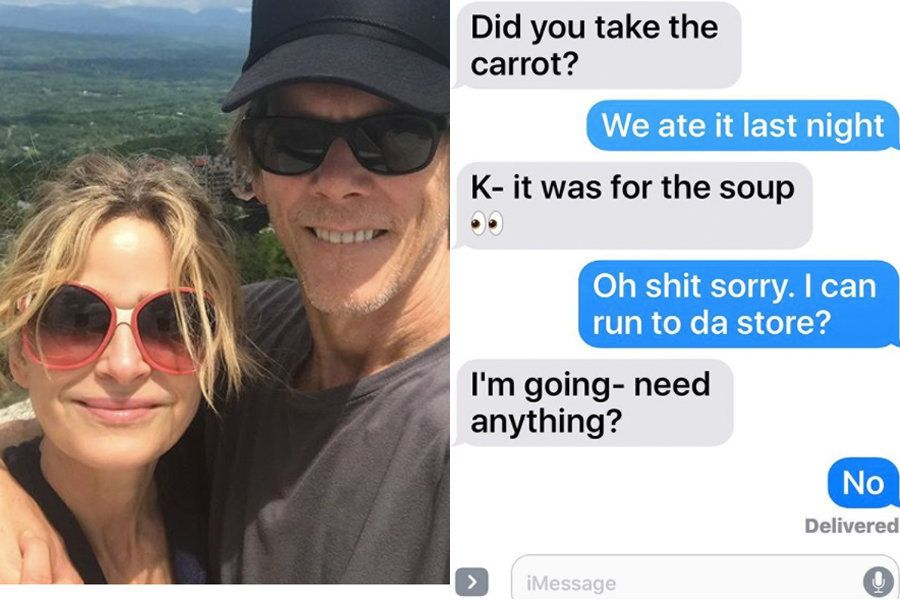 Kevin Bacon & Kyra Sedgwick's Texts Show Us What A 29-Year Marriage Looks
