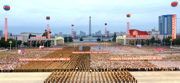 A celebration in Pyongyang marks the success of a test for the installation of an intercontinental ballistic...