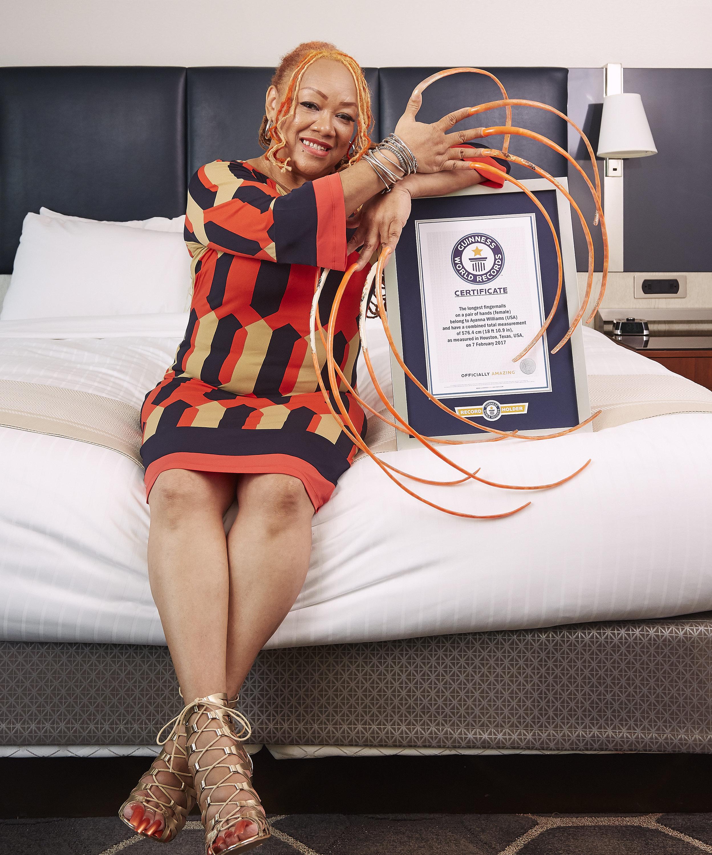 Ayanna Williams - Longest FingernailsGuinness World Records 2017Photo Credit: Kevin Scott Ramos/Guinness World Records