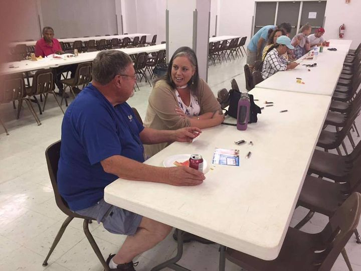 Democratic Congressional candidate meets individually with union members at the Central Arkansas Labor Council's annual Labor