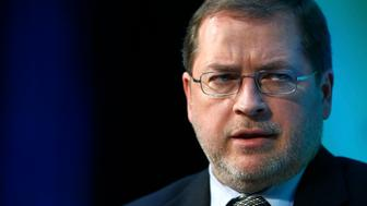 Americans for Tax Reform Founder and President Grover Norquist sits for an on-stage interview at The Atlantic Economy Summit in Washington March 18, 2014.   REUTERS/Jonathan Ernst    (UNITED STATES - Tags: POLITICS BUSINESS)