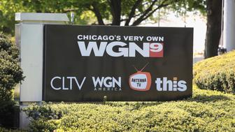 CHICAGO , IL - MAY 08:  A sign sits outside the studio of Tribune Media Company's, WGN television studio on May 8, 2017 in Chicago, Illinois. Tribune Media Co. announced today it has agreed to be acquired by Sinclair Broadcast Group for $43.50 per share or about $3.9 billion. Sinclair currently owns 173 Television stations and Tribune 42.  (Photo by Scott Olson/Getty Images)