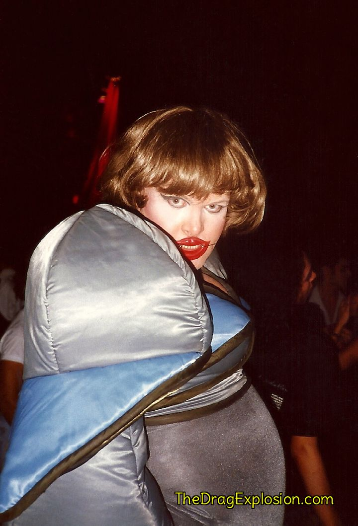 Leigh Bowery at the Parallel Nightclub in 1991.