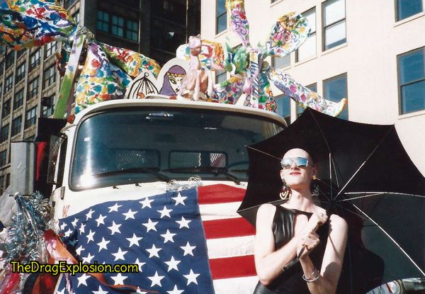 Dean Johnson at the Gay Day Parade 1987