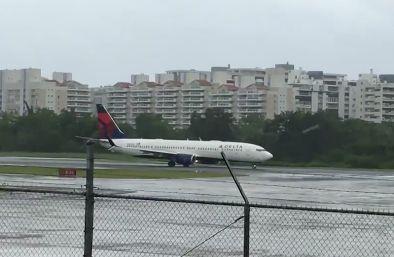 Screen grab of Delta Air Lines flight leaving San Juan airport in Puerto Rico on Sept 6 2017