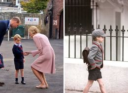 Prince George Arrives For His First Day Of School At Thomas's Battersea