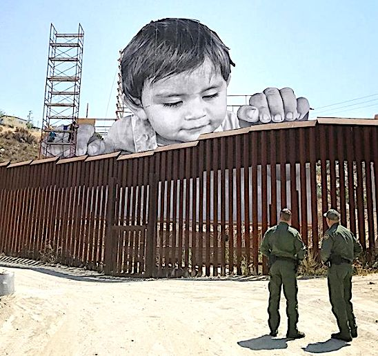 Poignant New Artwork Shows Little Boy Playing On U.S.-Mexico